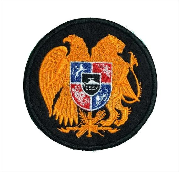 Armenia Flag Patch Embroidered Iron On Applique Armenian