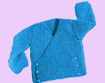 baby cardigan pattern baby sweater pattern birth gift pattern baby pattern baby crochet jacket baby crochet coat