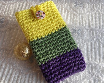 handmade crochet phone case cellphone sleeve iphone 7 samsung S7 LG xperia SP galaxy alpha crochet phone cover