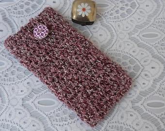 handmade crochet phonecase iphone7 samsung galaxy S8  nokia sony blackberry cellphone sleeve cellphone cover