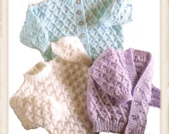 baby cardigan pattern baby sweater pattern birth gift pattern baby pattern