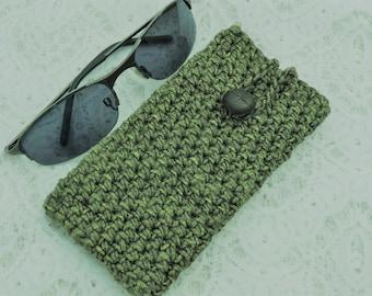 handmade phone case crochet cellphone sleeve iphone 7 galaxy S7 green cellphone cover