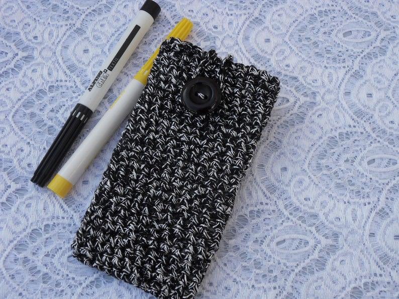 crochet phone case iphone cover smartphone sleeve LG samsung apple cellphone sleeve cellphone cover