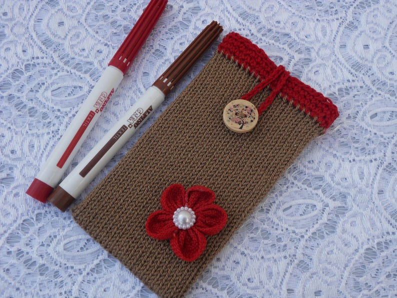 Crochet Handmade Phone Case Knitted Cellphone Sleeve Iphone 7 Etsy