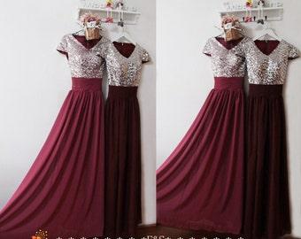 7448494fffa Burgundy Prom Dress
