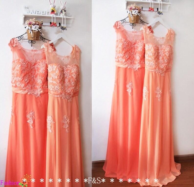 cc23596117e Plus Size Bridesmaid DressSexy Plus Size Peach Lace Evening