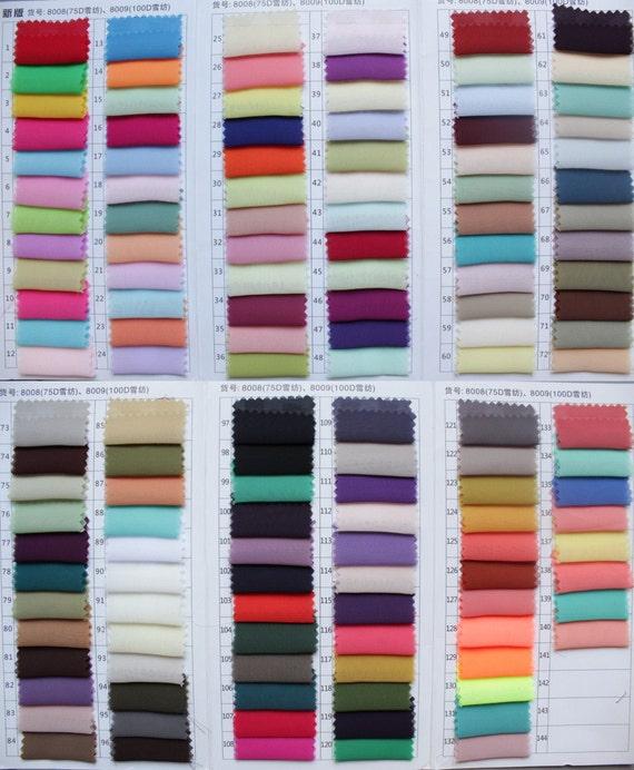 Chiffon Color Swatch sample