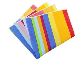 78905263ed6bd Mens Pocket Square.Rainbow Pocket Squares.Multi Color Wedding Handkerchief.Matching  Set.Wedding Favors.Gifts