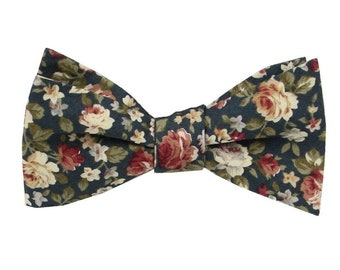 Green Floral Bowties. Juniper Bow tie for Men. Davids Bridal Juniper Bowties. Dark Green Bowtie. Forest Green Bowtie.
