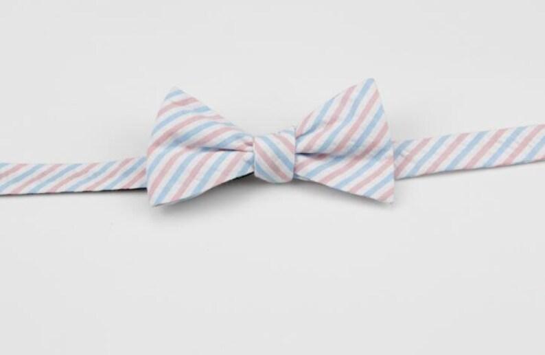 8540260f0dd9 Self Tie Bowties.Seersucker Bow Ties.Butterfly Bowtie.Wedding   Etsy