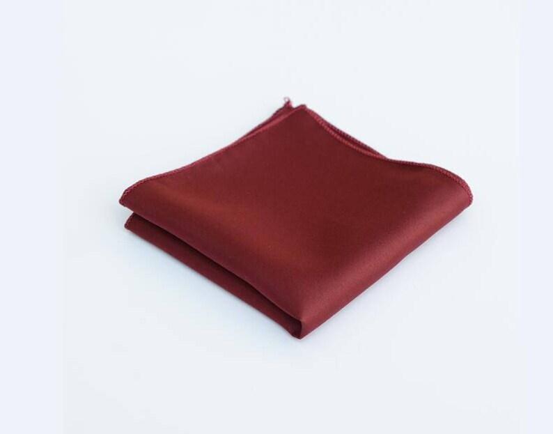 fce8606c0665b Wine Red Pocket Squares.Silk Pocket Square.Burgundy | Etsy
