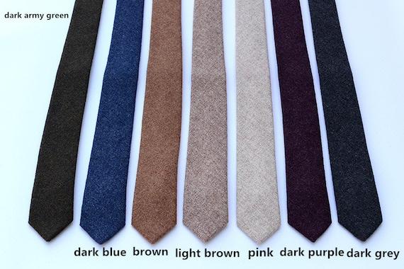 Wool Ties.Mens Neckties.Wedding Ties.Wool Skinny Ties.Neckties | Etsy