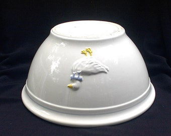 """Vintag McCoy 2110 Bowl 10 3/8"""" Ducks Geese Country Accents"""