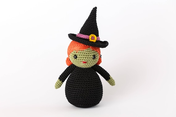 Witch Amigurumi Pattern Crochet Halloween Pattern Witch Pdf Etsy