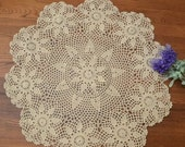 100 handmade round floral tablecloth, hand crochet table cover, round table topper for home wedding decoration