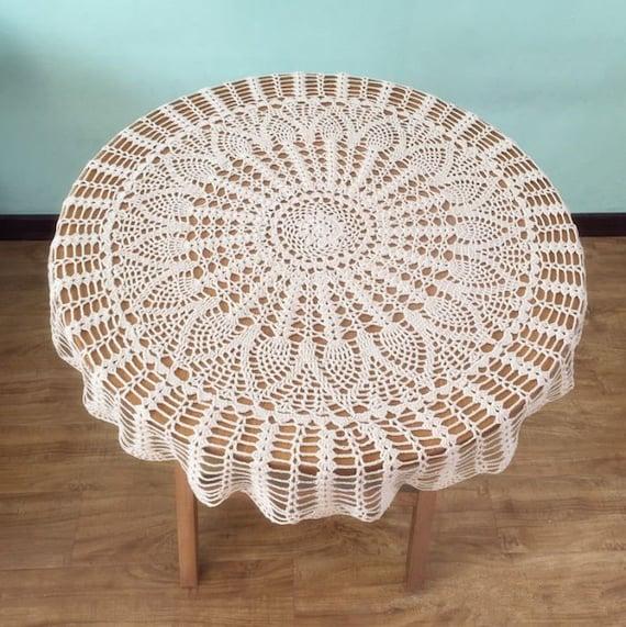 Klassische Ananas häkeln Muster Tisch decken beliebte Runde