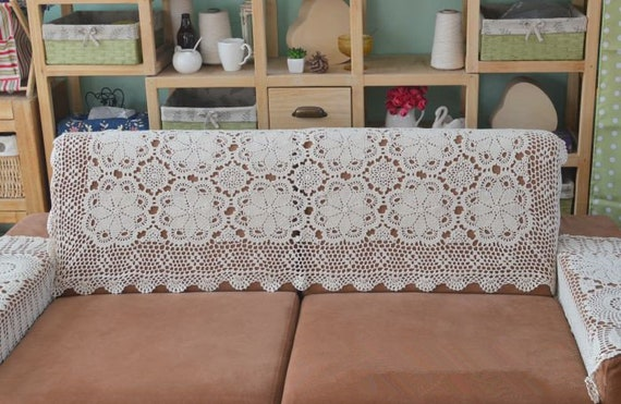 Phenomenal Country Living Hand Crochet Couch Cover Snow Flake Design Table Cover Handmade Floral Oblong Tablecloth For Home Decor Uwap Interior Chair Design Uwaporg