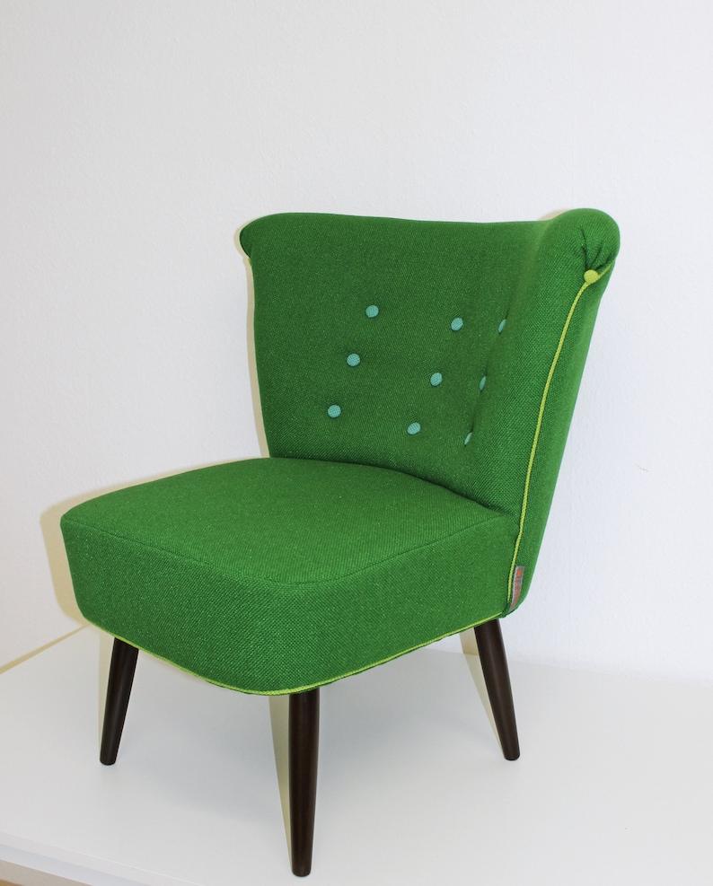 Kleiner Grüner Sessel Grüner Cocktailsessel Kleiner Sessel Etsy