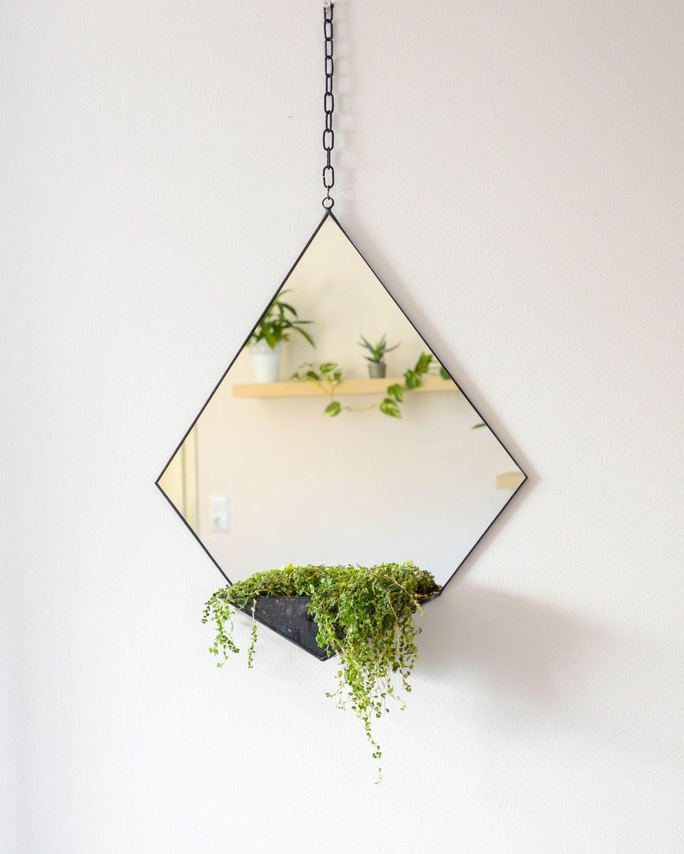 Geometrische Spiegel & Terrarium moderne Hauptdekoration | Etsy