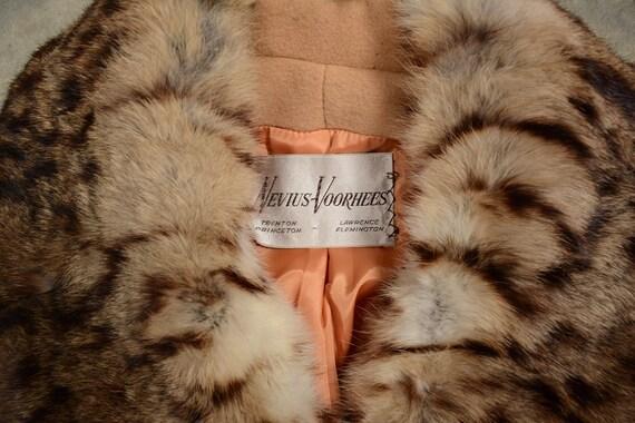 vintage 40s 50s wool princess coat double breaste… - image 5