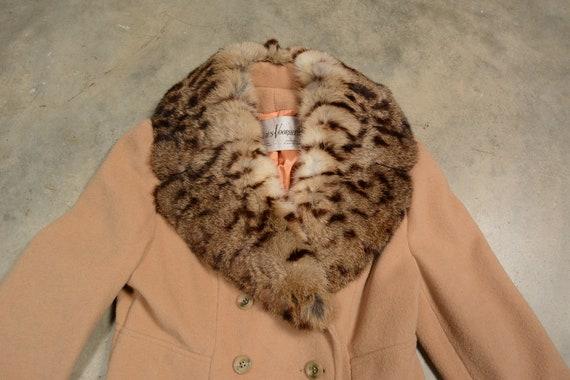 vintage 40s 50s wool princess coat double breaste… - image 4