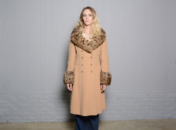 vintage 40s 50s wool princess coat double breaste… - image 1