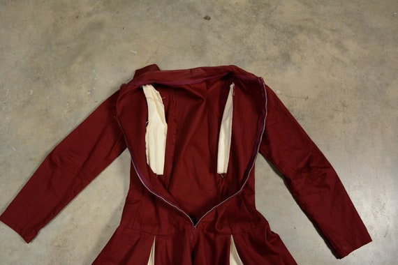 vintage 40s 50s circle skirt dress majorette chee… - image 5