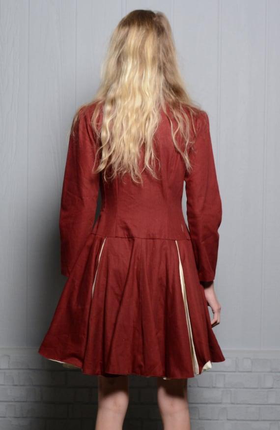 vintage 40s 50s circle skirt dress majorette chee… - image 3