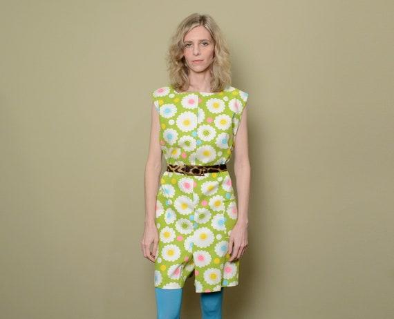 vintage 60s mod pant dress a-line sleeveless tank