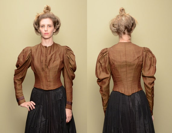 antique Victorian bodice jacket 1800s women clothi