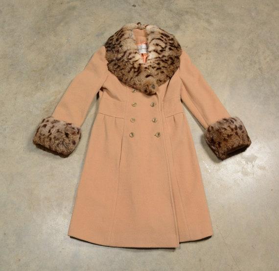 vintage 40s 50s wool princess coat double breaste… - image 3