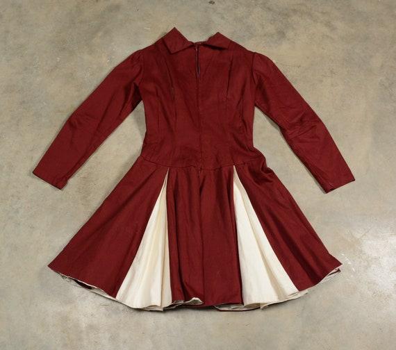 vintage 40s 50s circle skirt dress majorette chee… - image 4