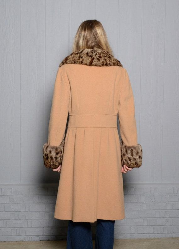 vintage 40s 50s wool princess coat double breaste… - image 2