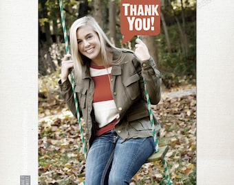 Thank You Note Card Graduation Thank You Photo Cards Etsy