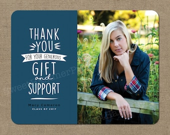 Graduation Thank You Notes | Graduation Thank You Cards Photo Personalized Thank You Cards Etsy