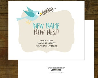 we met we married we moved card moving announcement with etsy