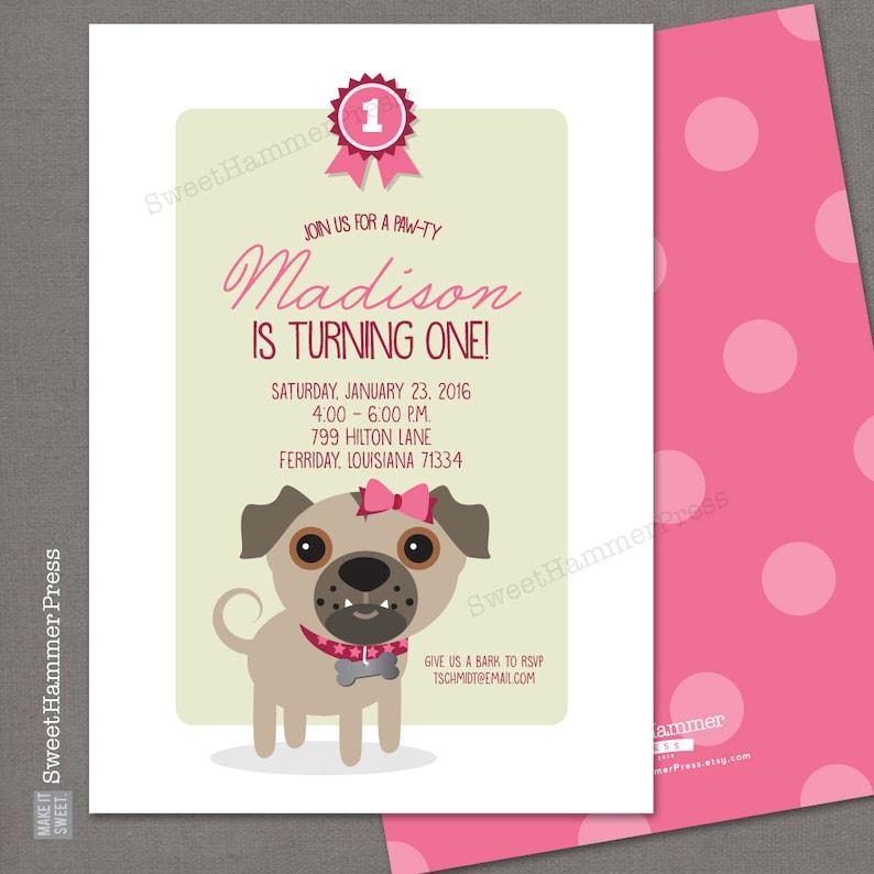 Dog Birthday Invitation Boxer Puppy Party