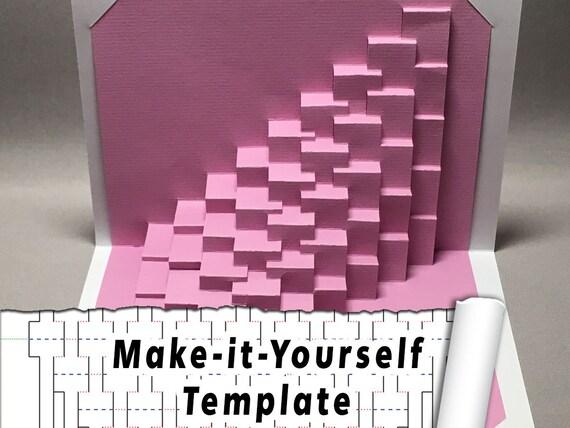 diy template torsion 1 straight kirigami etsy