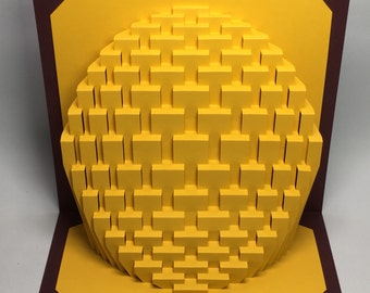 9x9 Obloid : kirigami pop-up paper sculpture