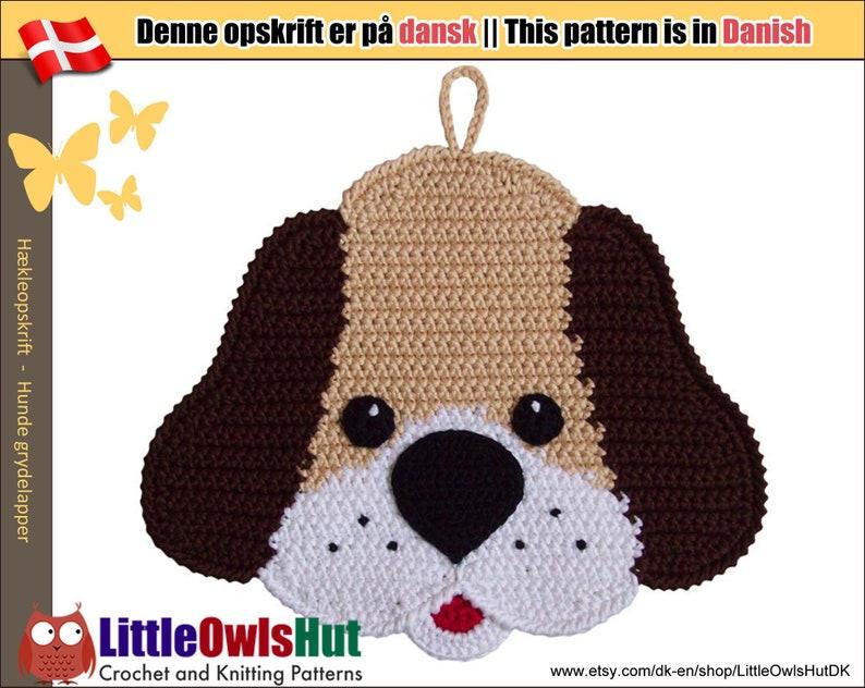 161DK  Hunde grydelapper  Hækle Opskrift  PDF af Svetlana image 0