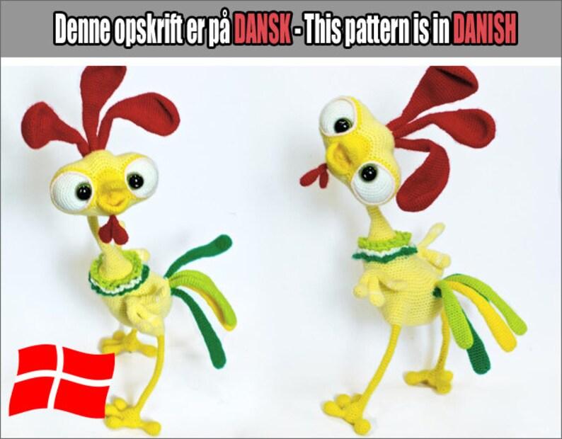 132DK  Baby hanen Kubrik  Amigurumi Hækle Opskrift  PDF af image 0