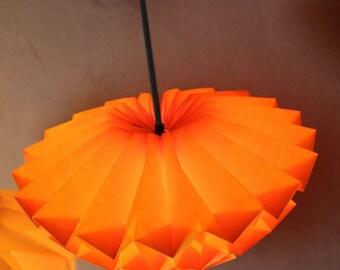 Origami Paper lampshade: Discus (orange/ small)