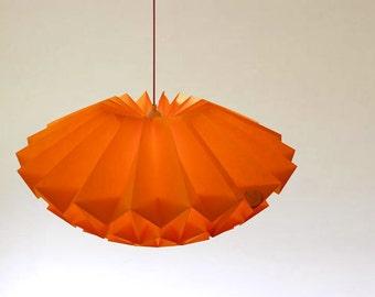 Origami Paper lampshade:Discus corn yellow/ medium)