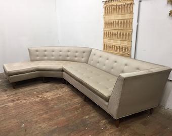 Elegant American Modern MCM Sectional Sofa