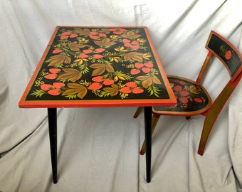 Childrens Table And Chairs Etsy