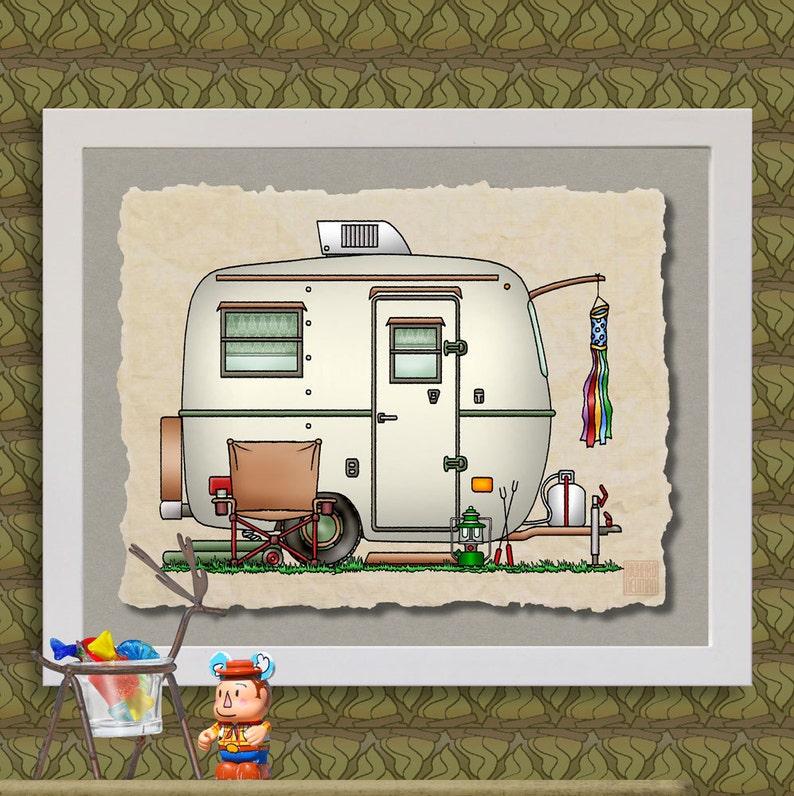 Vidrio Camper Diversión O Fibra A Añadir Whimsical Y Arte Una Huevo Autocaravana Trailer Feliz La Viajar CaravanaRemolque Lindo De Impresiones FlT1cK3J