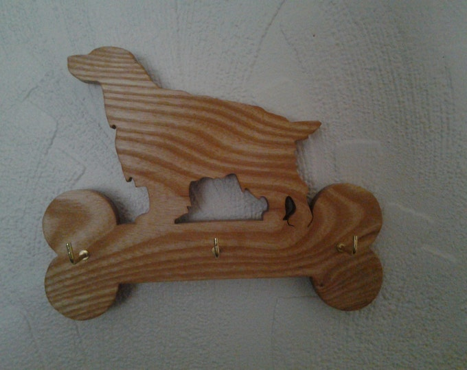 Key or Lead Holder dog shaped plaques in various type woods. SPECIAL OFFER only a few remaining