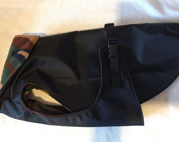"Waterproof Dog Coat 18"" Black"