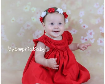 385694062941 Red baby dress