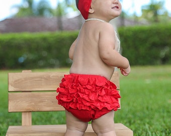 8190fcfcfa Red baby bloomers